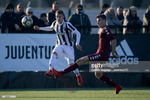 Cendrim Kameraj during the TIM Cup Primavera match between Juventus U19 and Torino FC U19 at Juventus Center Vinovo on November 29 2017 in Vinovo...