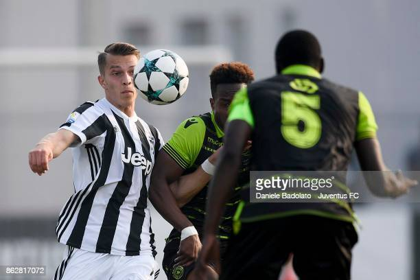 Cendrim Kameraj during the UEFA Youth League match between Juventus and Sporting CP at Juventus Center Vinovo on October 18 2017 in Vinovo Italy