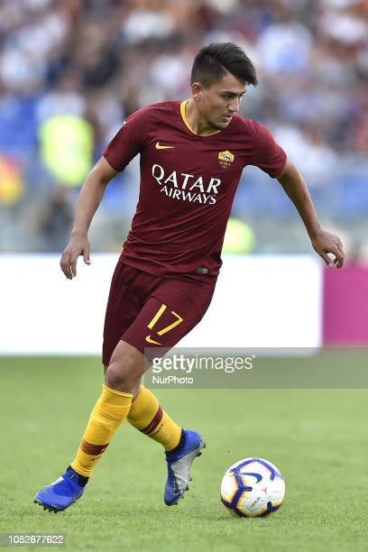 Cengiz Under of AS Roma during the Serie A match between Roma and SPAL at Stadio Olimpico Rome Italy on 20 October 2018