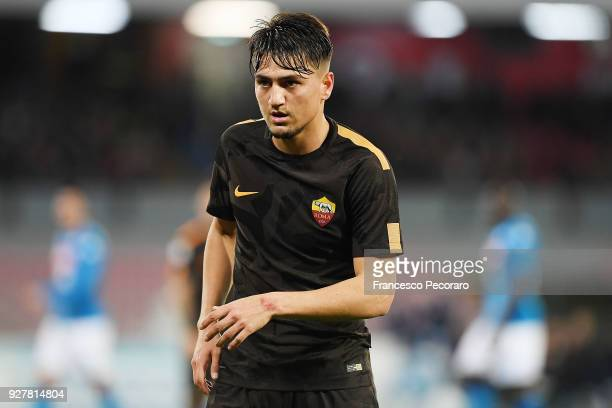 Cengiz Under of AS Roma in action during the serie A match between SSC Napoli and AS Roma Serie A at Stadio San Paolo on March 3 2018 in Naples Italy