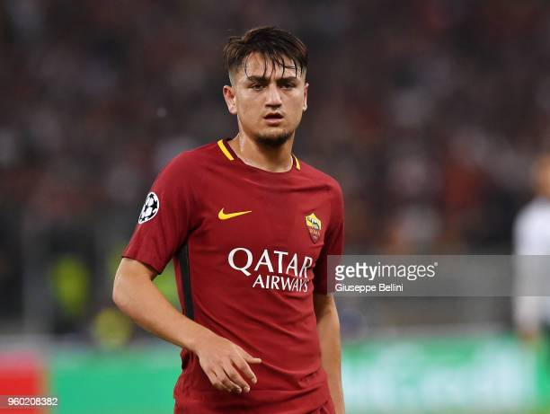 Cengiz Under of AS Roma in action during the UEFA Champions League Semi Final Second Leg match between AS Roma and Liverpool FC at Stadio Olimpico on...