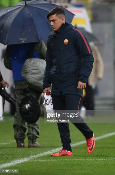 Cengiz Under of AS Roma is seen during Italy Serie A match between ACF Fiorentina and AS Roma at Stadio Artemio Franchi in FlorenceItaly on November...