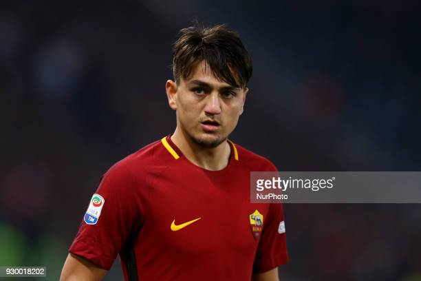 Cengiz Under of Roma during the Italian Serie A football match between AS Roma and FC Torino at the Olympic Stadium in Rome Italy on March 9 2018