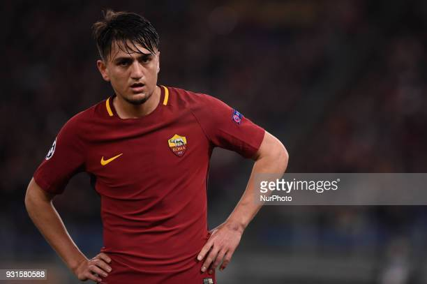 Cengiz Under of Roma during the UEFA Champions League Round of 16 match between Roma and Shakhtar Donetsk at Stadio Olimpico Rome Italy on 13 March...