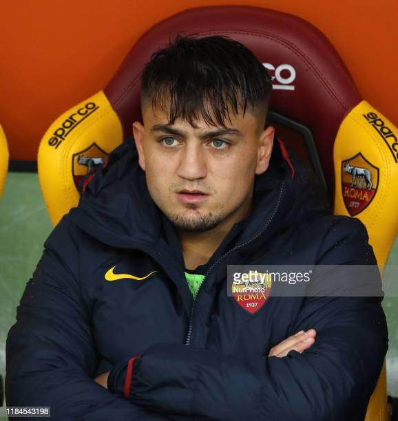 Cengiz Under of Roma on the bench during the Serie A match AS Roma v Brescia Fc at the Olimpico Stadium in Rome Italy on November 24 2019