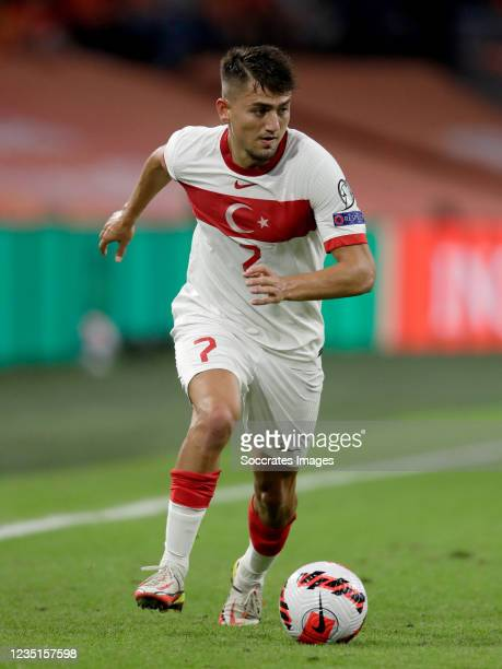 Cengiz Under of Turkey during the World Cup Qualifier match between Holland v Turkey at the Johan Cruijff Arena on September 7, 2021 in Amsterdam...