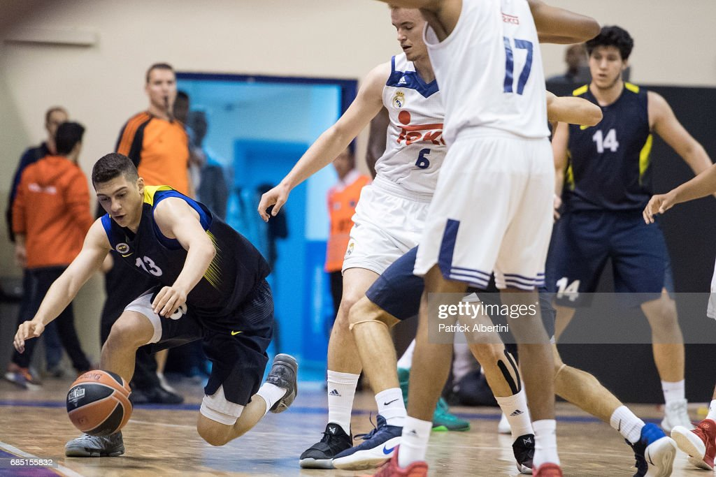 Cengizhan Ivedi, #13 of U18 Fenerbahce Istanbul in action during the Euroleague Basketball Adidas Next Generation Tournament game between U18 Real Madrid v U18 Fenerbahce Istanbul at Ahmet Comert on May 19, 2017 in Istanbul, Turkey.