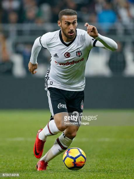 Cenk Tosun of Besiktas during the Turkish Super lig match between Besiktas v Akhisar Belediyespor at the Vodafone Park on November 17 2017 in...