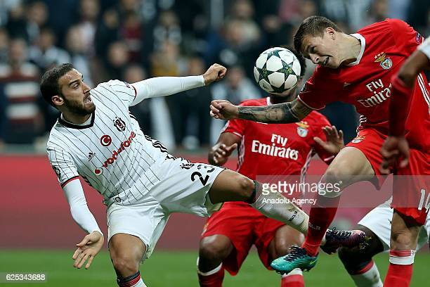Cenk Tosun of Besiktas in action during the UEFA Champions League Group B football match between Besiktas and Benfica at Vodafone Arena in Istanbul...