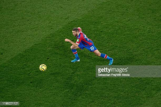 Cenk Tosun of Crystal Palace control ball during the Premier League match between Crystal Palace and Southampton FC at Selhurst Park on January 21...