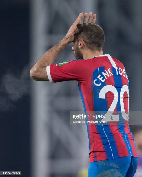 Cenk Tosun of Crystal Palace reaction during the Premier League match between Crystal Palace and Southampton FC at Selhurst Park on January 21 2020...