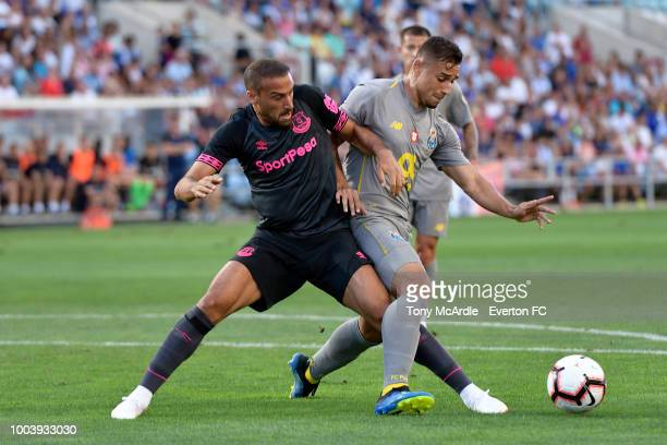 Felipe of FC Porto with Vincent Aboubakar of FC Porto and Moussa Marega of FC Porto in action during the Algarve Cup match between FC Porto and...