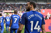 swansea wales cenk tosun everton during