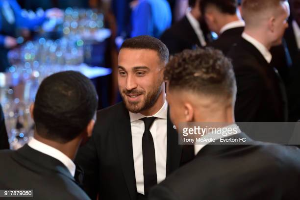 Cenk Tosun of Everton during the Everton in the Community Gala Dinner at St George's Hall on February 13 2018 in Liverpool England