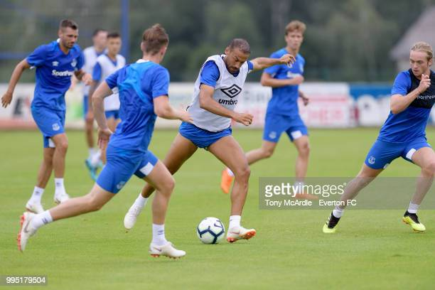Cenk Tosun of Everton during the Everton training session on July 10 2018 in Bad Mitterndorf Austria