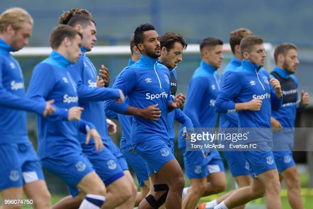 Cenk Tosun of Everton during the Everton training session on July 11 2018 in Bad Mitterndorf Austria