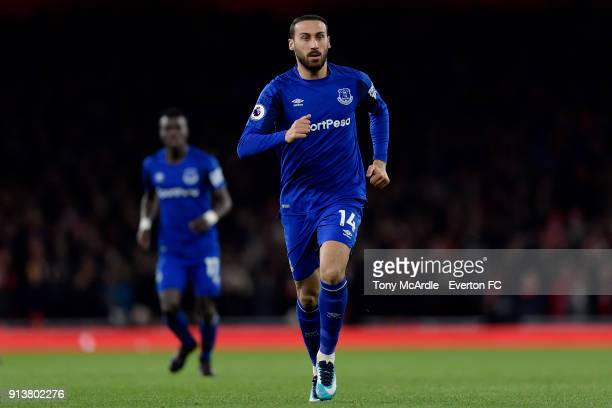 Cenk Tosun of Everton during the Premier League match between Arsenal v Everton at Emirates Stadium on February 3 2018 in London England