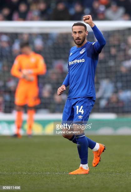Cenk Tosun of Everton during the Premier League match between Burnley and Everton at Turf Moor on March 3 2018 in Burnley England