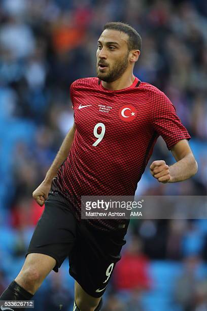 MANCHESTER ENGLAND MAY 22 Cenk Tosun of Turkey during the International Friendly match between England and Turkey at Etihad Stadium on May 22 2016 in...