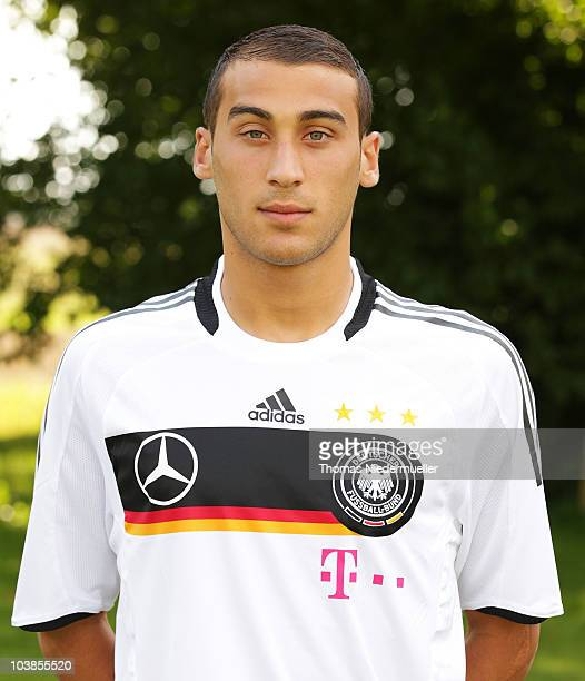 Cenk Tosun poses during U20 Germany the team presentation on September 5 2010 in Donaueschingen Germany