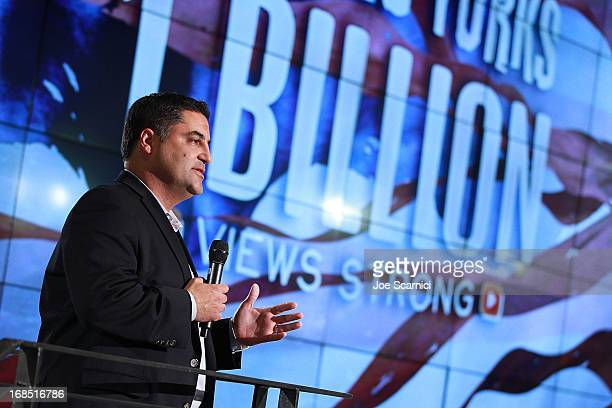 Cenk Uygur attends the Young Turks celebrate 1 billion views at YouTube LA on May 9 2013 in Playa Vista California