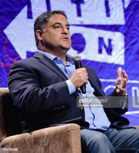 Cenk Uygur speaks during Politicon 2018 at Los Angeles Convention Center on October 21 2018 in Los Angeles California