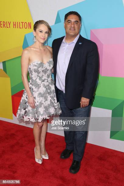 CenkUygur and AnaKasparian at the 2017 Streamy Awards at The Beverly Hilton Hotel on September 26 2017 in Beverly Hills California