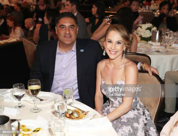 Cenk Uygur and Ana Kasparian at the 2017 Streamy Awards at The Beverly Hilton Hotel on September 26 2017 in Beverly Hills California
