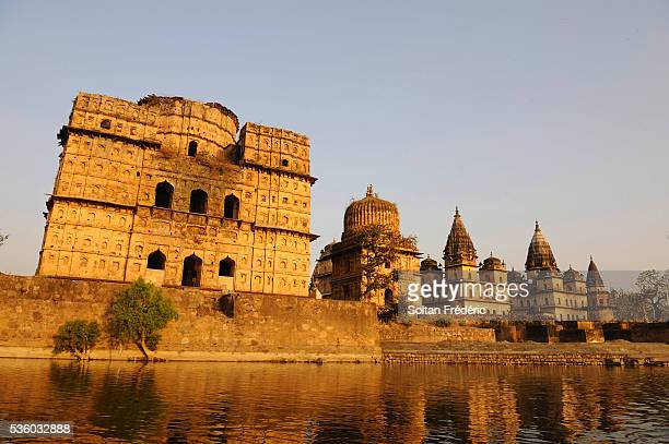 Cenotaphs on the Banks of the Betwa River