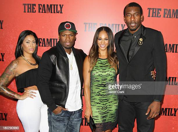 Cent Alexis Stoudemire and Amar'e Stoudemire attend The Family World Premiere at AMC Lincoln Square Theater on September 10 2013 in New York City