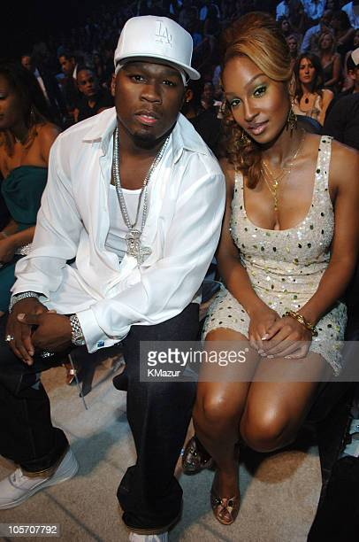 50 Cent and guest during 2005 MTV Video Music Awards Audience and Backstage at American Airlines Arena in Miami Florida United States