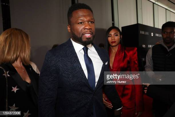 Cent and Jamira Haines attend ABC's For Life New York Premiere at Alice Tully Hall Lincoln Center on February 05 2020 in New York City
