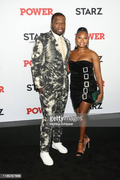 Cent and Naturi Naughton attend the Power final season world premiere at The Hulu Theater at Madison Square Garden on August 20 2019 in New York City