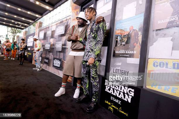 Cent and NLE Choppa attend 'Power Book III: Raising Kanan' global premiere event and screening at Hammerstein Ballroom on July 15, 2021 in New York...
