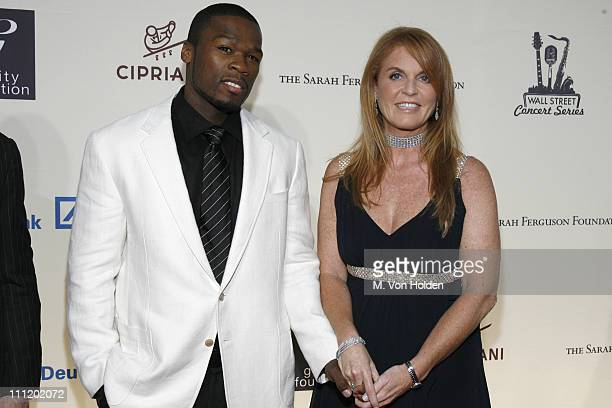 50 Cent and Sarah Ferguson Duchess of York during 50 Cent Live at the 2007 Cipriani Wall Street Concert Series Benefiting the Sarah Ferguson...