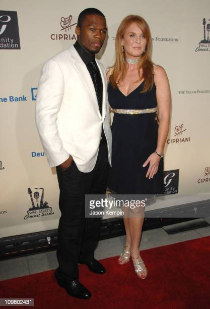 50 Cent and Sarah Ferguson during 2007 Cipriani Wall Street Concert Series Presents 50 Cent Live June 20 2007 at Cipriani's Wall Street in New York...