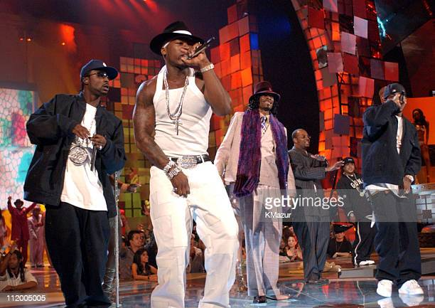 50 Cent and Snoop Dogg during 2003 MTV Video Music Awards Show at Radio City Music Hall in New York City New York United States