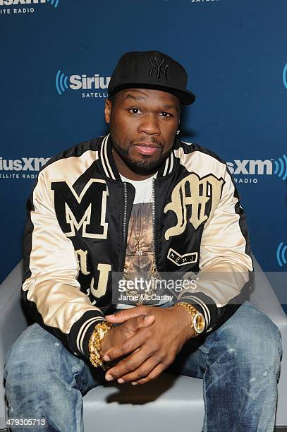 Cent answers questions from fans during a SiriusXM 'Town Hall' special at the SiriusXM studios on March 17 2014 in New York City