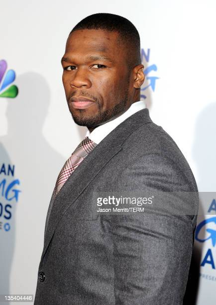 Cent arrives at the American Giving Awards presented by Chase held at the Dorothy Chandler Pavilion on December 9, 2011 in Los Angeles, California.