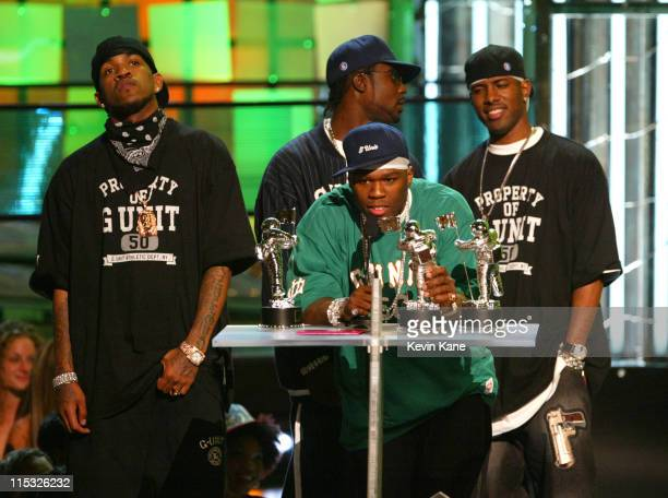50 Cent at the 2003 MTV Video Music Awards during 2003 MTV Video Music Awards Show at Radio City Music Hall in New York City New York United States