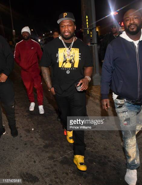 Cent attends 50 Cent Cognac Launch Party at One Cigar Lounge on February 1 2019 in Atlanta Georgia