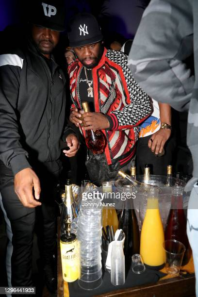 Cent attends Barry Mullineaux's birthday party hosted by 50 Cent on January 14, 2021 in Miami, Florida.