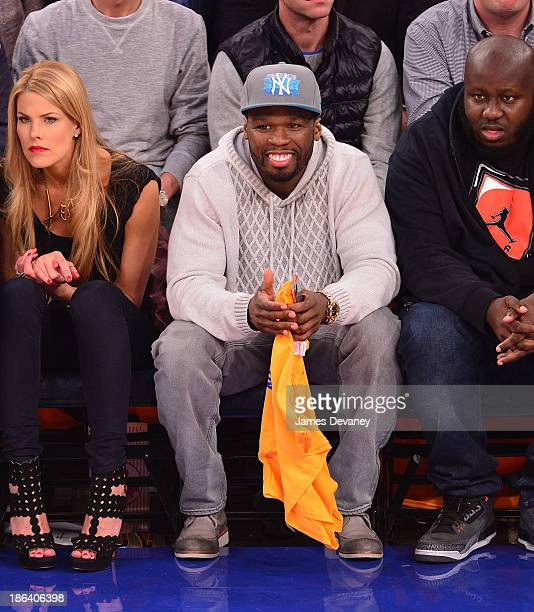 Cent attends the Milwaukee Bucks vs the New York Knicks at Madison Square Garden on October 30 2013 in New York City