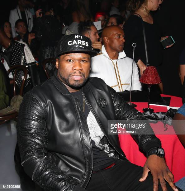 Cent attends the Philipp Plein fashion show during New York Fashion Week at Hammerstein Ballroom on September 9 2017 in New York City