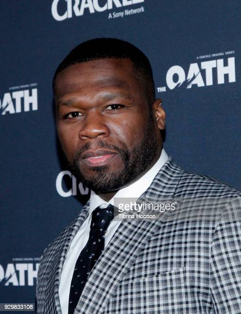 Cent attends the premiere of Crackle's 'The Oath' at Sony Pictures Studios on March 7 2018 in Culver City California