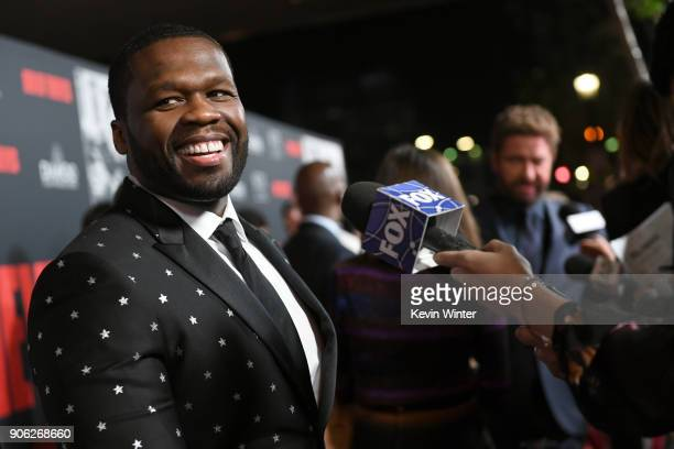 Cent attends the premiere of STX Films' 'Den of Thieves' at Regal LA Live Stadium 14 on January 17 2018 in Los Angeles California