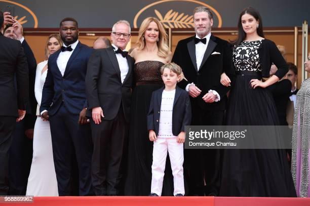 Cent Cannes Film Festival Director Thierry Fremaux Kelly Preston Benjamin Travolta John Travolta and Ella Bleu Travolta attend the screening of Solo...