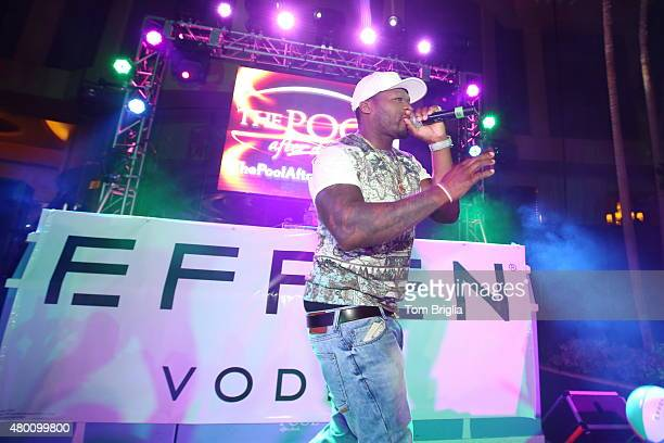 Cent celebrates his birthday with a performance at The Pool After Dark at Harrah's Resort on Wednesday July 8 2015 in Atlantic City New Jersey