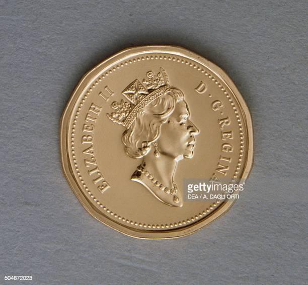 1 cent coin obverse queen Elizabeth II Canada 20th century
