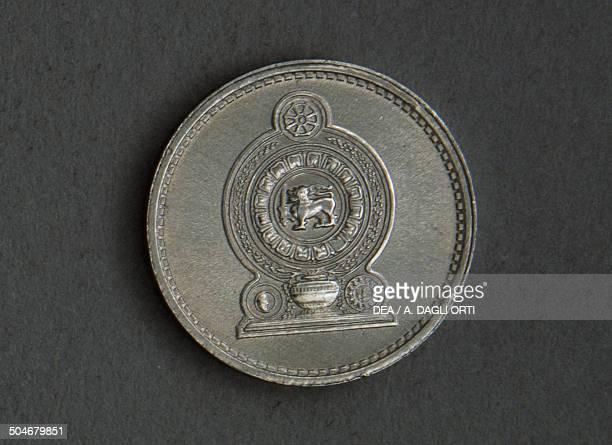 1 cent coin reverse Sri Lanka 20th century